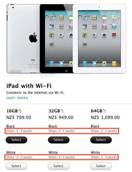 ipad 2 available countries