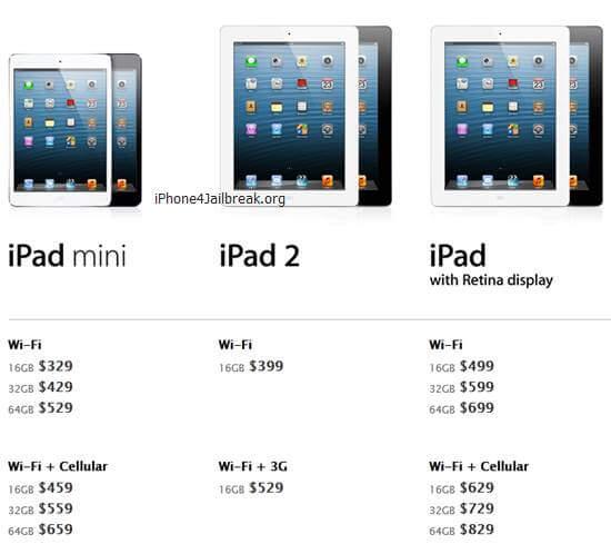 ipad 2012 prices