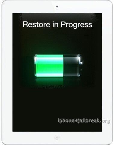 ipad 3 restore in progress