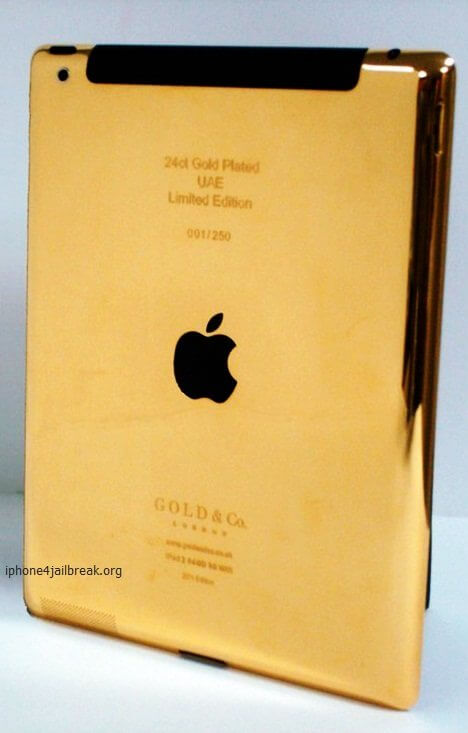 ipad gold plated