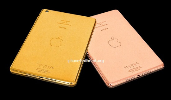 ipad mini gold plated