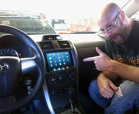 ipad mini inside car navigation