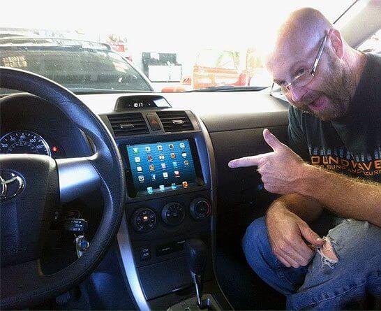ipad mini inside car navigation