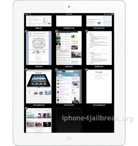ipad tabs on iphone 4