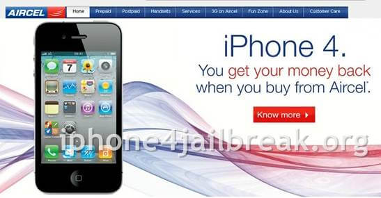 iphone 4-aircel