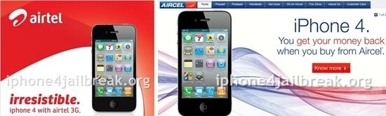 iphone 4 airtel aircel