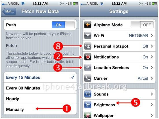 iphone 4 battery save tips optimized
