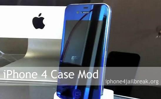 iphone 4 blue case mod