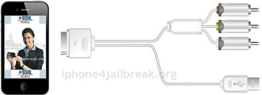 iphone 4 composite cable audio video