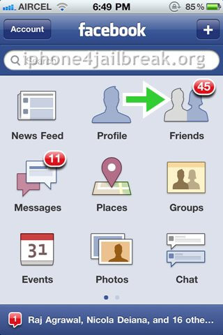 iphone 4 facebook contacts sync-