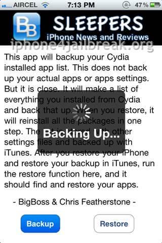 iphone 4 jailbreak apps backup