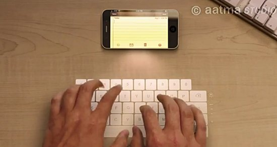 iphone 4 laser keyboard