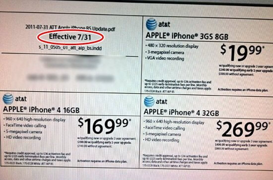 iphone 4 price drop