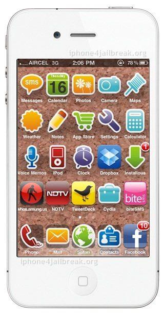 iphone 4 theme sticker