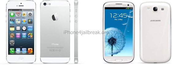 iphone 5 back white samsung galaxy s3 back