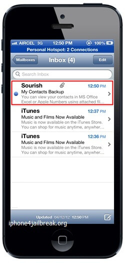 iphone 5 contacts backup email