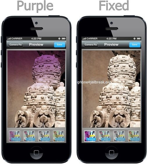 iphone 5 purple haze photo problem fix