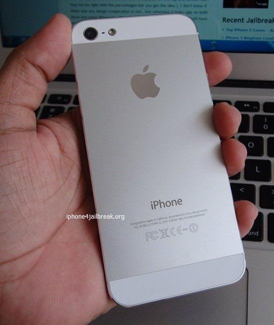 iphone 5 rear aluminium white
