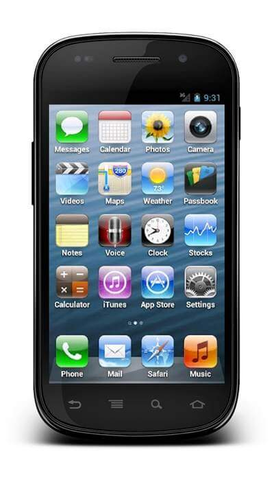 iphone themes for android iphone 5 theme for android phones 15483