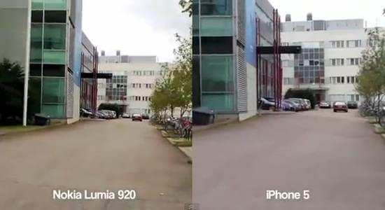 iphone 5 vs nokia lumia 920 video test