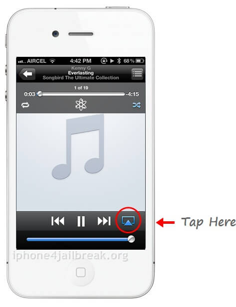 iphone airplay enable