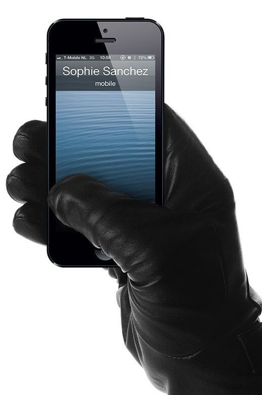 iphone leather-touchscreen-gloves