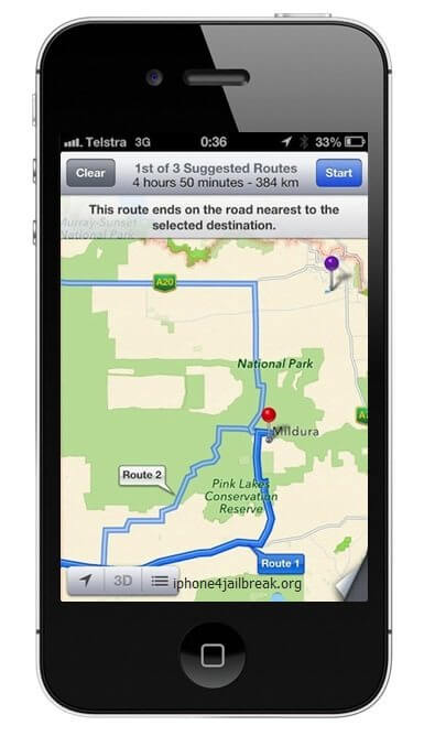 iphone maps australia