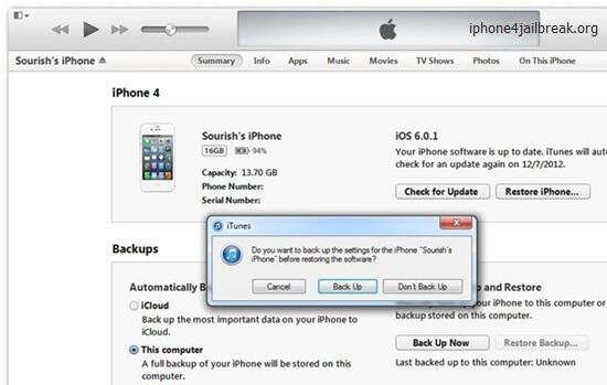 iphone restore itunes 11