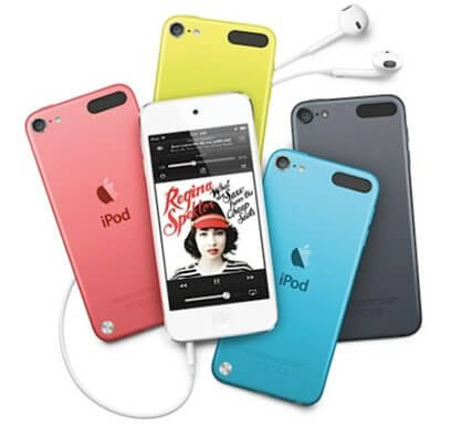 ipod touch 4 colours