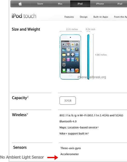 ipod touch 5 features