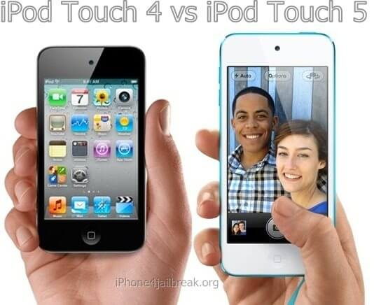 ipod touch 5 vs ipod touch 4 difference