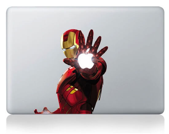 ironman decal macbook