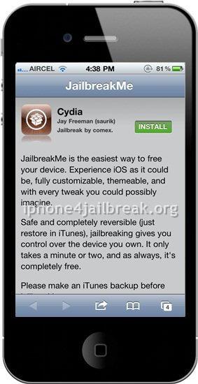 jailbreakme install iphone 4