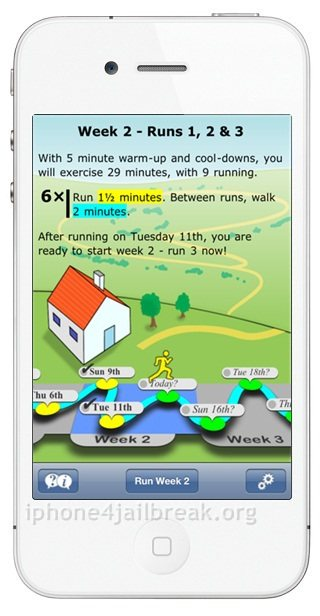 jogging app iphone 4s