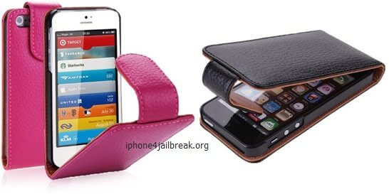 leather cover iphone 5 pink