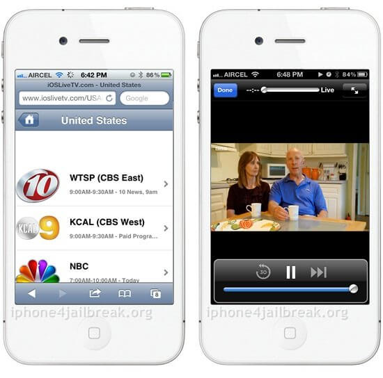 live mobile tv iphone 4s