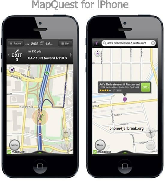 mapquest iphone 5 maps