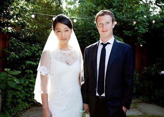 mark zuckerberg marriage pictures