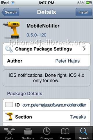 mobilenotifier install-
