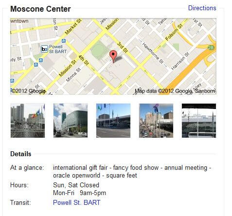 moscone west directions locations gps