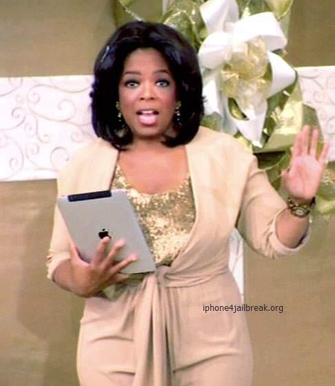 oprah holding ipad