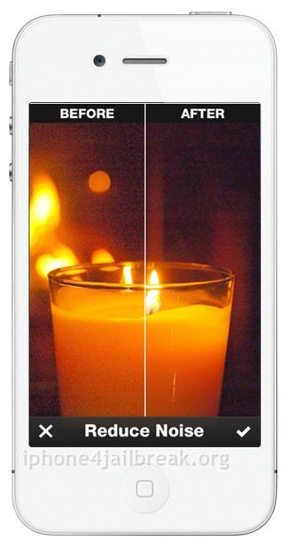 reduce noise in pictures on iphone image editor app