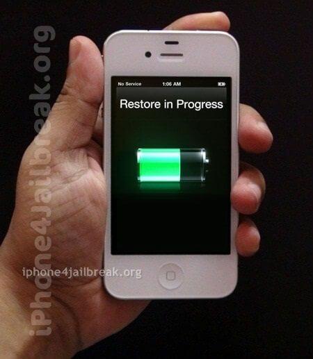 restore in progress iphone 4 jailbreak