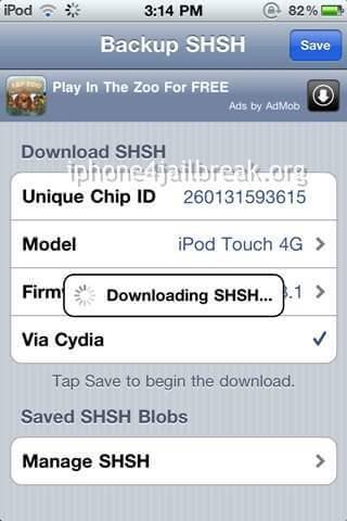 save shsh blobs