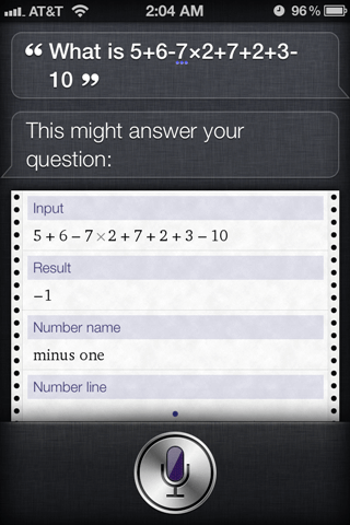 siri calculates math