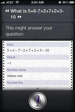 siri iphone 4s math calculation