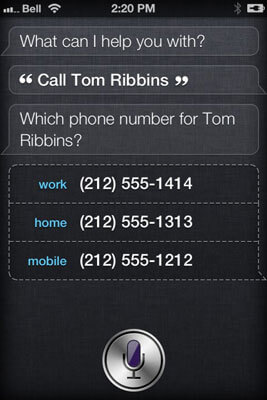 siri making calls to numbers