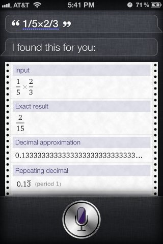 siri math questions solution (