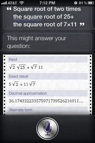 siri math questions solution