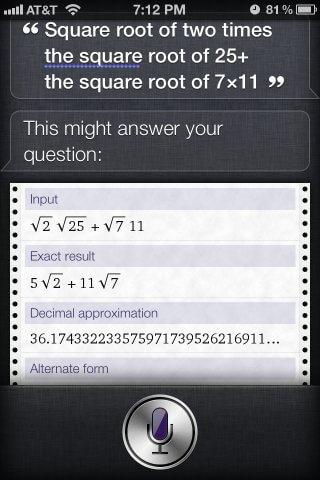 siri math questions solution